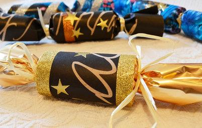 DIY: Silvester-Knallbonbons basteln – aus Toilettenpapierrollen!