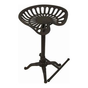 Surprising Nach Rustic Adjustable Tractor Seat Stool Farmhouse Bar Ibusinesslaw Wood Chair Design Ideas Ibusinesslaworg