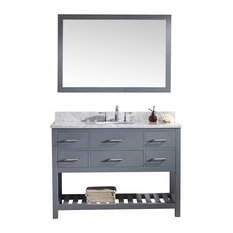 "Caroline Estate 48"" Single Bathroom Vanity Cabinet Set, Gray"