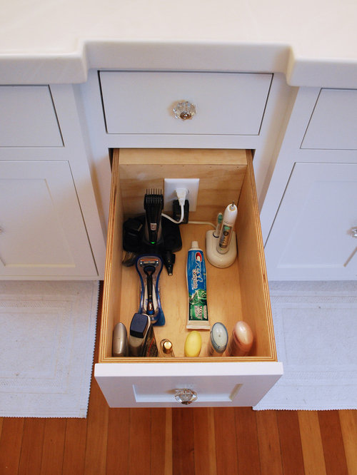 Bathroom Vanity Electrical Outlet bathroom drawer electrical outlets | houzz