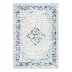 "nuLOOM Traditional Centerpiece Area Rug, Light Blue, 9'10""x14'"
