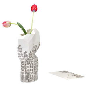 Black and White Paper Vase Cover, Canal House