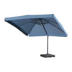 GDF Studio Atlantic Outdoor 9.8-foot Canopy Umbrella with Base-Lavender