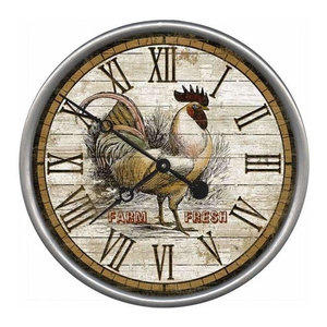 Rustic Rooster Wood Wall Decor Farmhouse Country Home Hanging Decor New