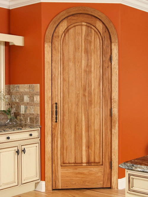 & Hickory Arched Interior Door