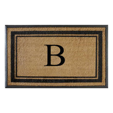 First Impression Markham Border Double Extra Large Monogrammed Doormat, B