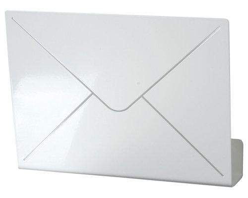 Letter Brevhylla, Vit Metall - Display & væghylder