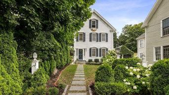 Elegant Point Shore Colonial w/Water Views & Garden Terrace