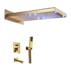 Modena LED Gold Shower Set