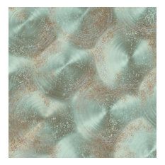 Reclaimed Tarnished Metal Wallpaper, Turquoise