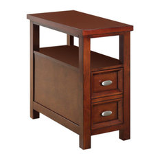 Acme Furniture   Acme Perrie Side Table, Cherry   Side Tables And End Tables