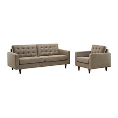 Oatmeal Empress Armchair And Sofa Set Of 2