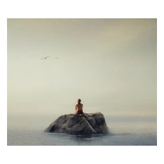"""""""return to the happiness of silence"""" 24x24 Limited Fine Art Paper Print"""