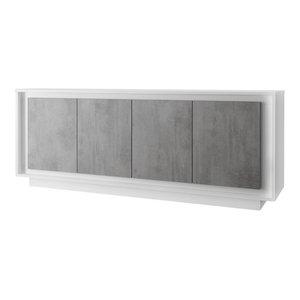 Amber IV Modern Sideboard, Stone Imitation Fronts