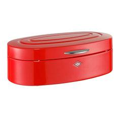 """""""Elly"""" Retro Bread Box, Red"""