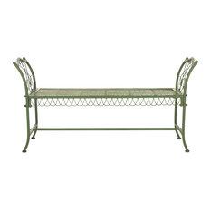 """Safavieh Arona Wrought Iron 51"""" Outdoor Garden Bench"""