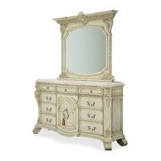 AICO Villa di Como Dresser With Mirror, Moonlight