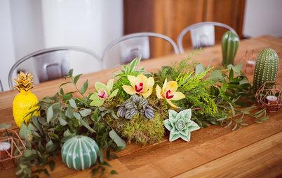 DIY : Un centre de table végétal en mousse naturelle