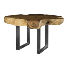 60-inchW Dining Table Live Edge Acacia Wood Natural Freeform One Of A Kind