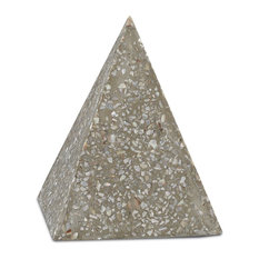 Currey and Company Abalone Small Concrete Pyramid