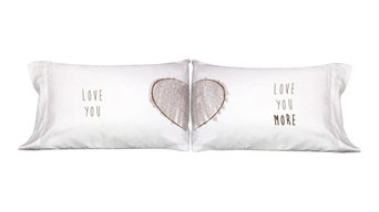 """""""Love You More"""" Pillowcases, Set of 2, Standard/Queen"""