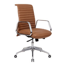 luxury office chair. fine mod imports ox office chair with mid back light brown luxury