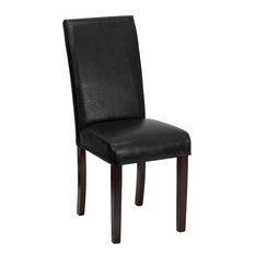 flash furniture leather upholstered parsons chair black dining chairs. beautiful ideas. Home Design Ideas