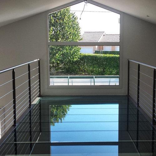 plancher verre structure metallique. Black Bedroom Furniture Sets. Home Design Ideas