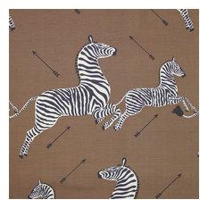"""Zebras Fabric, Safari Brown, 54""""x36"""""""