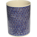 "Zaklady Ceramiczne Boleslawiec - Polish Pottery Utensil Jar, Pattern Number: 120 - Product details:    Dimensions: High: 7"" Diameter: 5.9"""