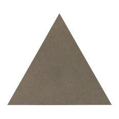 "10.37""x12"" Globus Cork Triangle Tiles, Set of 70, Cement Gray"