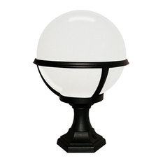 Outdoor Pedestal/Porch Lantern, Black