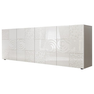 Miro II Decorative Sideboard, 241 cm, White Gloss