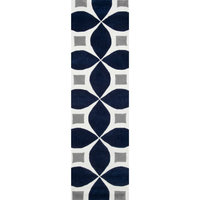 "Hand-Tufted Gabriela Area Rug, Navy, 2'6""x8' Runner"