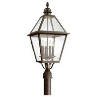 Townsend, Outdoor Post Lantern, 4 Light, Natural Bronze Finish, Clear Glass