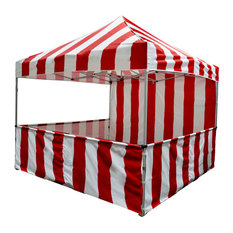 Carnival Instant Canopy Ez Pop Up With Sidewalls and Front Service Rail, 10'x10'