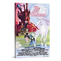 """Last Unicorn (1982)"" Wrapped Canvas Art Print, 40""x60""x1.5"""