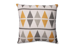 "Ikat Argyle Birch 18"" Throw Pillow"