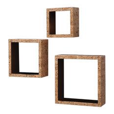 Cork Wall Cubes, Set of 3