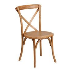 Hercules Series Stackable Cross Back Chair, Oak