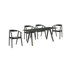 Kamran 5-Piece Dining Set Black