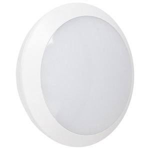 16W LED 6000K Opal Cover Motion Sensor Bulkhead Light, Ceiling/Wall Mount