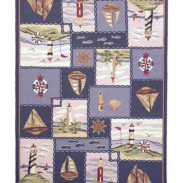 Safavieh Chelsea Hk267A Nautical Rug, Blue, 2'9