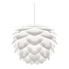 Silvia Plug-In Pendant, White/White, Medium
