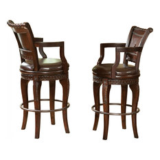 Antoinette Swivel Bar Chairs, Set of 2