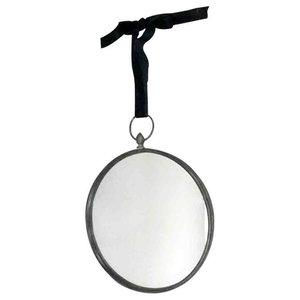 EMDE Dark Round Mirror