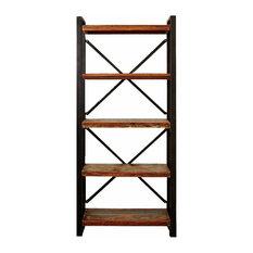 Urban Iron Framed Alcove Open Bookcase, 40 cm