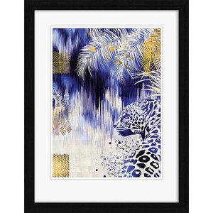 """Ikat Leopard"" Framed Print by Summer Thornton, 90x70 cm"