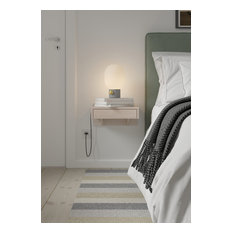 Bo Floating Nightstand with Drawer, Bedside Table, Beach style nightstand, white
