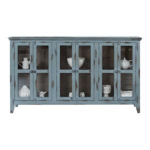 Ashley Furniture Mirimyn Door Accent Cabinet Antique Teal
